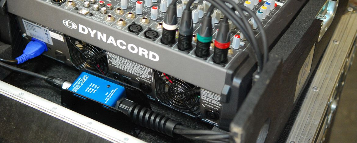 Dynacord Powermate mit CatCore XLR/Cat-Peitsche