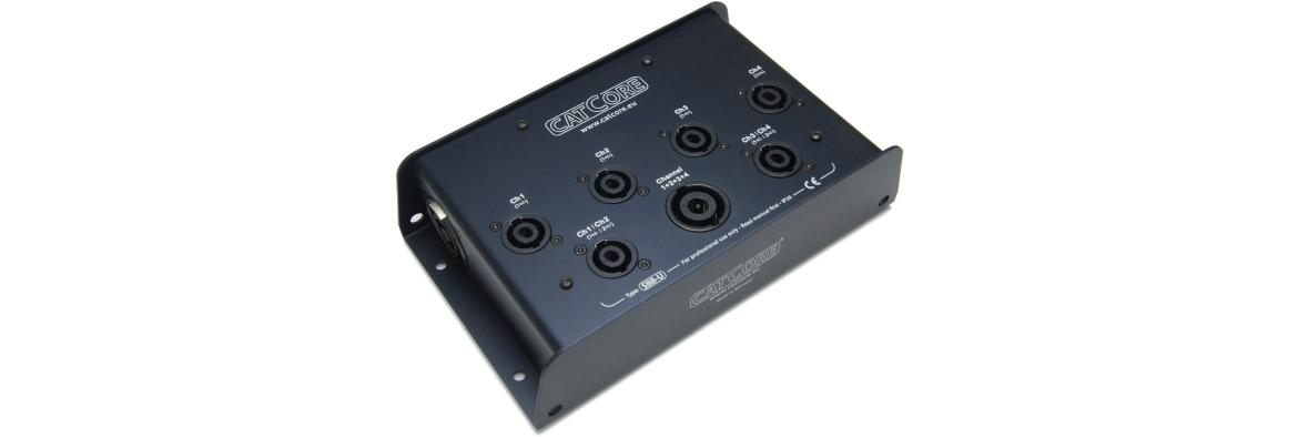 Stagebox Split Speakon NL8to NL4 with Link Output