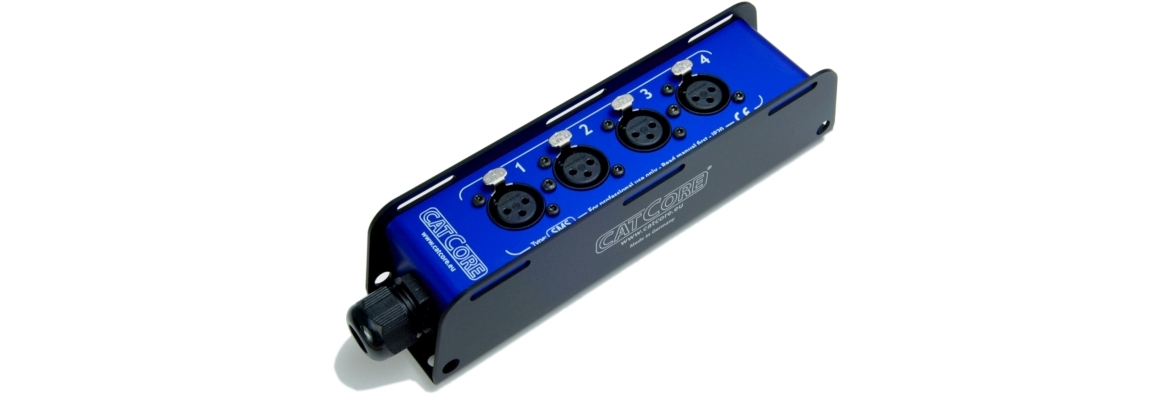 Stagebox 4x XLR Cat5 / Cat6 / Cat7 with LSA+ Krone IDC for Audio DMX