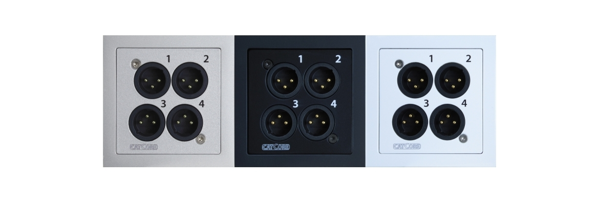 CatCore Wall outlet 4x XLR CAT