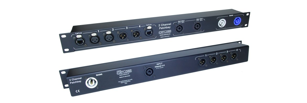 Stereo panel for audio amps, including XLR, Speakon and Powercon